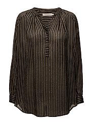 Rabens Saloner - Metallic Stripe Shirt