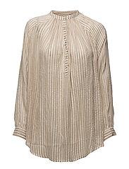 Metallic stripe shirt - IVORY