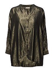 Golden long sleeve shirt - BLACK