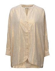 Golden long sleeve shirt - IVORY