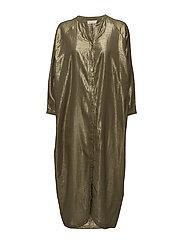 Golden long shirt dress - MILITARY GREEN