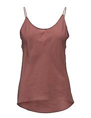 Cheviot camisole top - COPPER BROWN