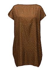 Rabens Saloner - Gold Print Scarf Dress