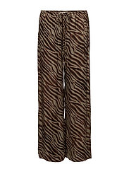 Zebra wide leg pants - ALUMINIUM BROWN