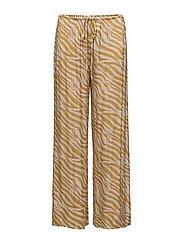 Zebra wide leg pants - ROSE