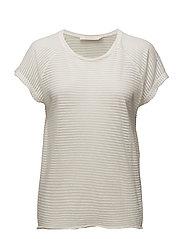 Thin fade oversize T-shirt - ECRU