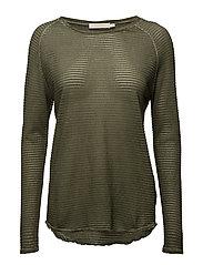 Thin fade long sleeve T shirt - ARMY