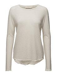 Thin fade long sleeve T shirt - ECRU