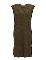 Cover seam short dress - MILITARY