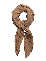 Gold print scarf