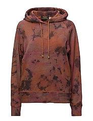 Redcross tiedye hoodie - PINK ORANGE
