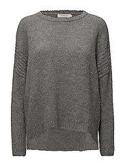 Linked boxy sweater - GREY