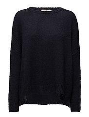 Linked boxy sweater - NAVY