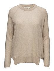 Melange boxy sweater - SAND