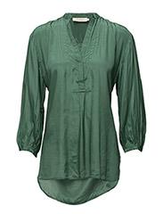 Lace detail shirt - DARK IVY