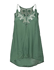 Lace detail small camisole - DARK IVY