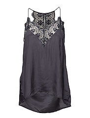 Lace detail small camisole - EBONY