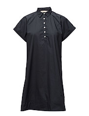 Messy cotton dress - INK BLUE