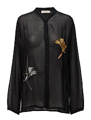 Magpie shirt - FADED BLACK