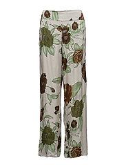 Megaflower wide leg pants - GREEN