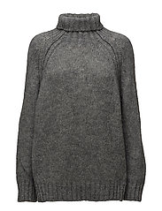 Eclectic rollneck sweater - PETROL GREY