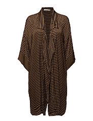 Houndstooth kimono - CARAMEL
