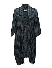Houndstooth kimono - PETROL