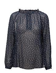 Dot blouse - NAVY