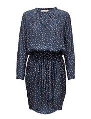 Dot short dress - NAVY