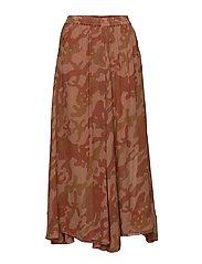 Camouflage skirt - RED DESERT