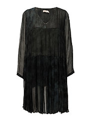 Cosmos tiered dress - FADED BLACK