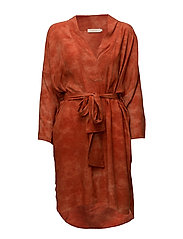 Cosmos kaftan dress - ORANGE BLOSSOM