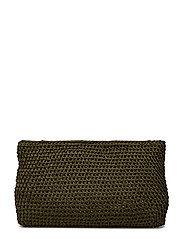 Crochet clutch - GREEN