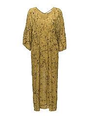 Waxed kaftan dress - HONEY