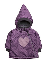 SILJE DOT JACKET - CRUSHED GRAPE