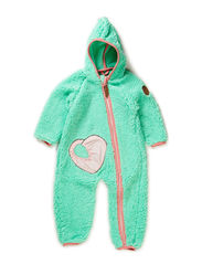 EFFIE TEDDY BABY SUIT - Electric green