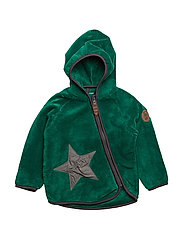 HERLUF TEDDY FLEECE JACKET - PEPPERGREEN