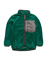 HENRY TEDDY FLEECE JACKET - PEPPERGREEN