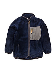 HUBERT TEDDY FLEECE JACKET - MEDIEVAL BLUE