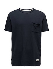 STANDARD ISSUE DOUBLE KNIT TEE - NAVY