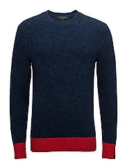 CHARLES COLORBLOCK CREW - NAVY / RED