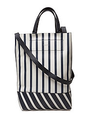 WALKER CONVERTIBLE TOTE - WHT/NVY STRP