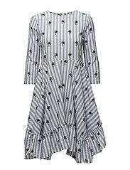 BEAUMONT DRESS - BLUE/WHITE STRIPE