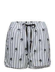 BUENA SHORTS - BLUE/WHITE STRIPE