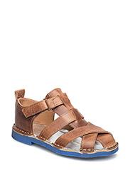 Sandal Leather - COGNAC