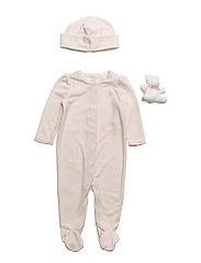 Floral Velour Coverall Set - PETAL PINK