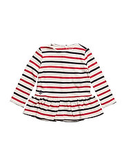 YD HEAVY WT JERSEY-LS STRIPE-TP-KNT - CLUBHOUSE CREAM/H