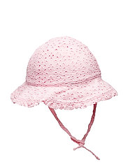 Eyelet Cotton Bucket Hat - HINT OF PINK