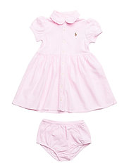 Knit Oxford Dress & Bloomer - PINK/WHITE