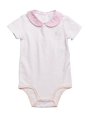 Striped Cotton Bodysuit - DELICATE PINK/WHI